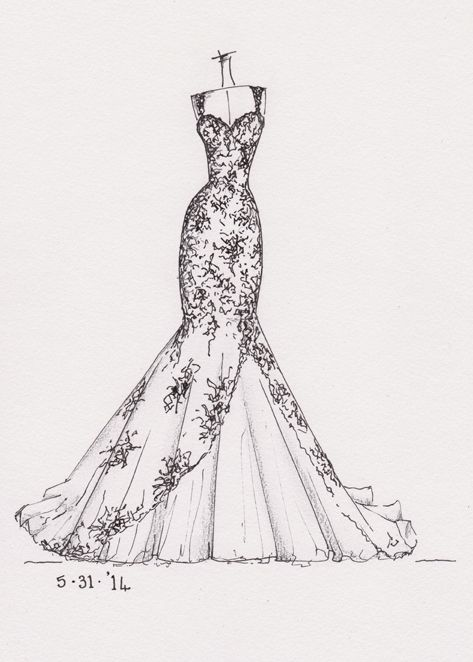 Drawn wedding dress #2