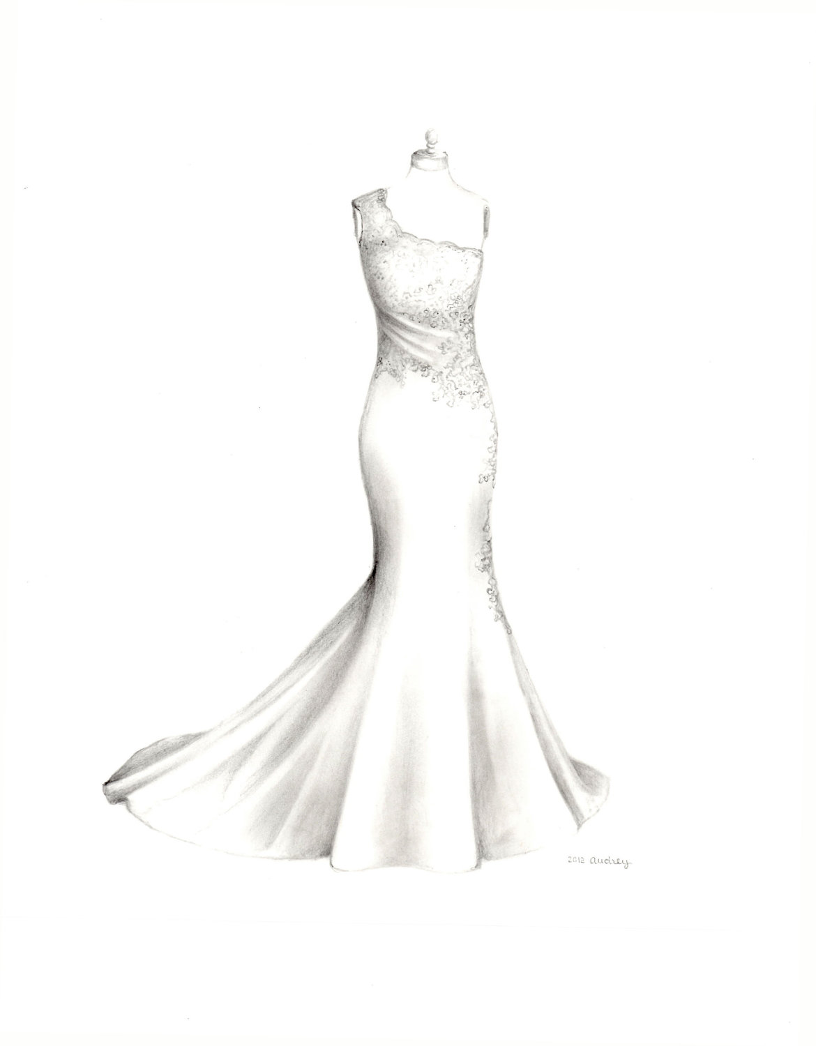 Drawn wedding dress #5