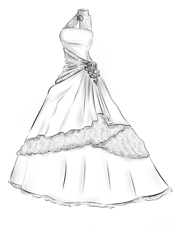 Drawn wedding dress #6