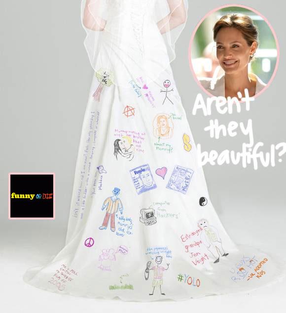 Drawn wedding dress angelina jolie #6
