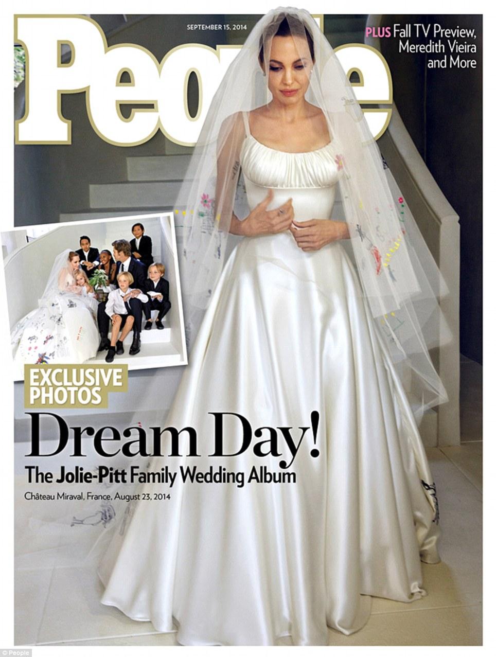 Drawn wedding dress angelina jolie #12