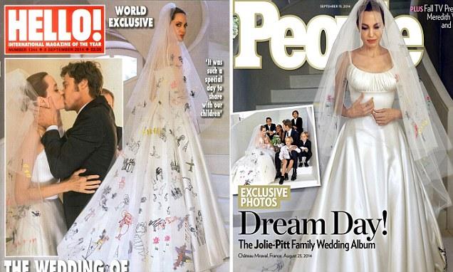 Drawn wedding dress angelina jolie #15