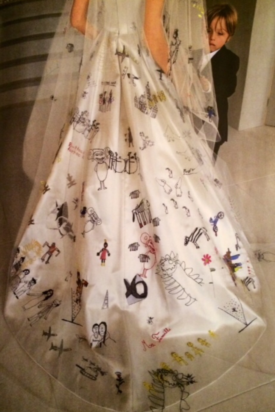 Drawn wedding dress angelina jolie #3