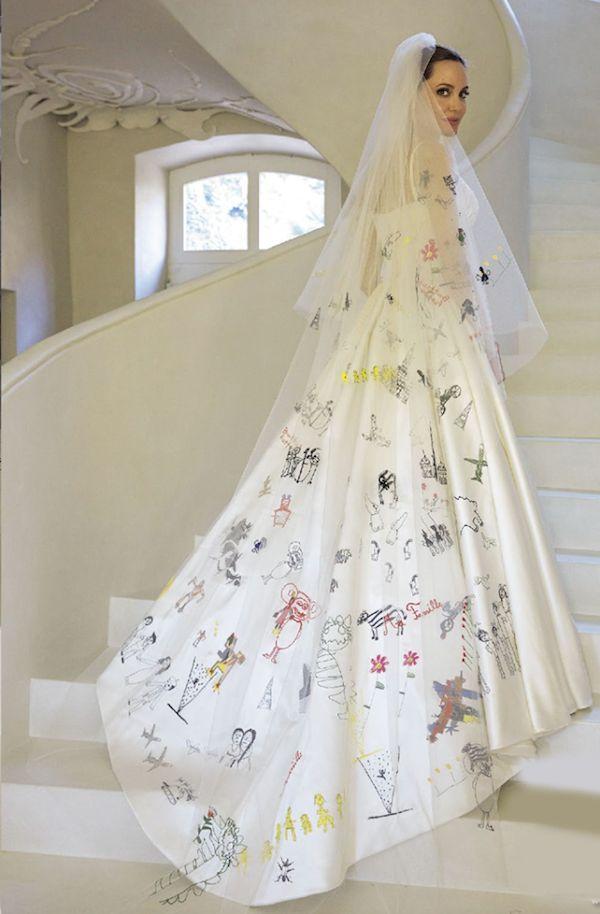 Drawn wedding dress angelina jolie #4