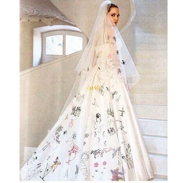 Drawn wedding dress angelina jolie #8