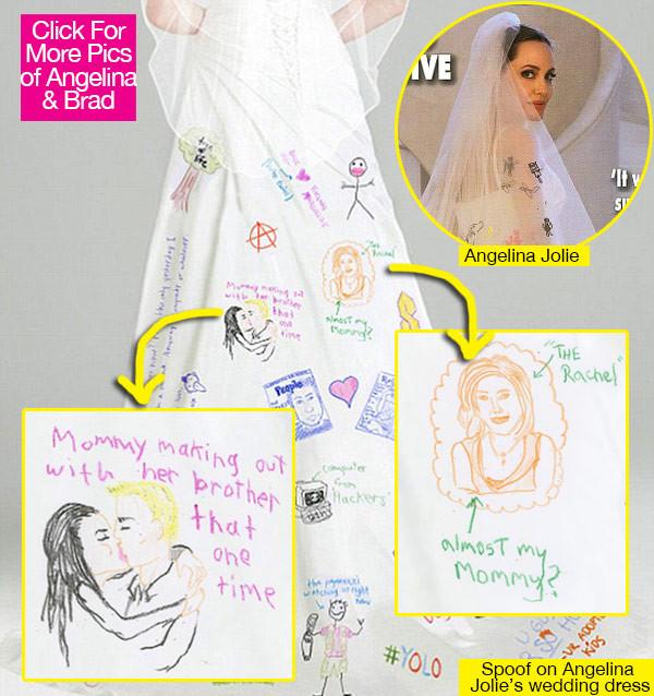 Drawn wedding dress angelina jolie #13