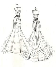 Drawn wedding dress back dress For VIEWS TWO someone falda