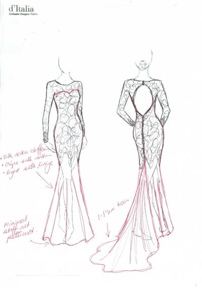 Drawn wedding dress back dress #frenchlace Back Open … Style
