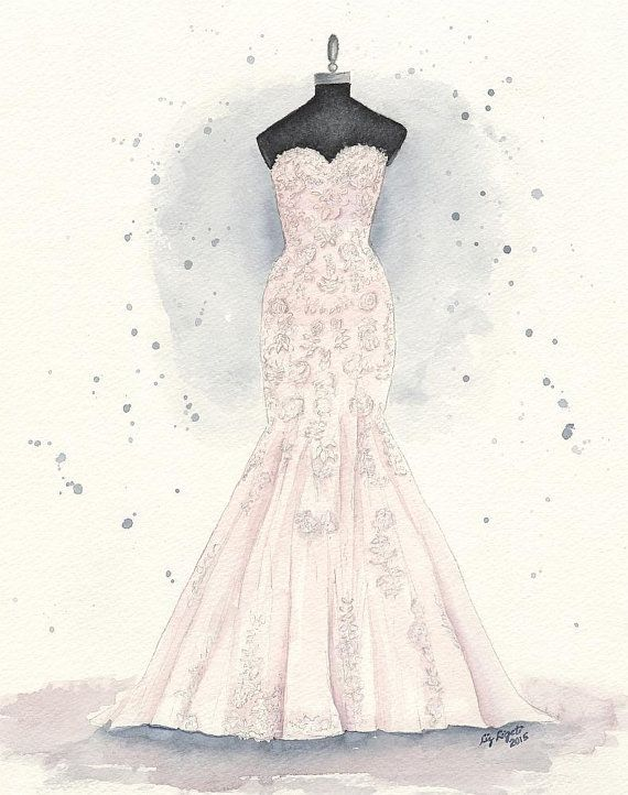 Drawn wedding dress christmas dress #10
