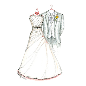 Drawn wedding dress christmas dress #2