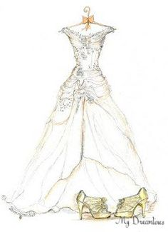 Drawn wedding dress christmas dress #4