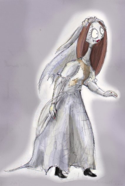 Drawn wedding dress christmas dress #7