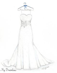 Drawn wedding dress christmas dress #6