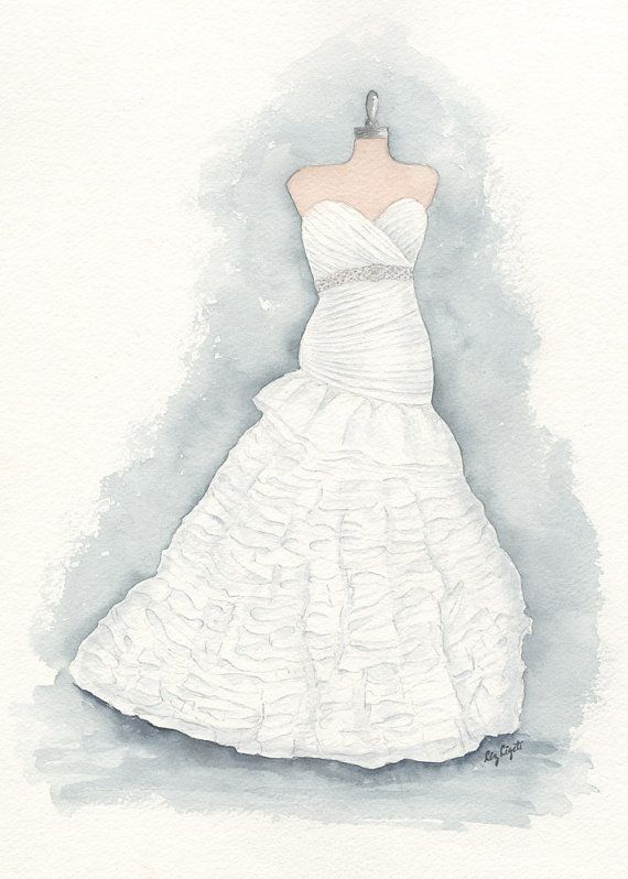 Drawn wedding dress christmas dress #12