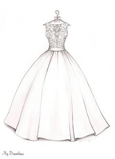 Drawn wedding dress christmas dress #3