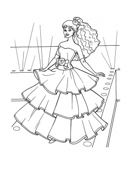 Drawn barbie color Wedding images coloring coloring dresses