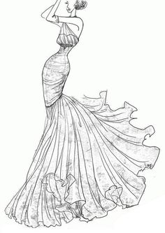 Drawn wedding dress dress style Sketches this sketch Drawing wedding