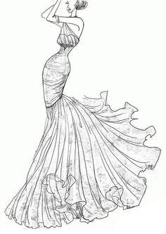 Drawn wedding dress dress style #7