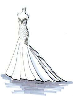 Drawn wedding dress dress style Search style drawing Search wedding