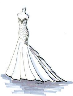 Drawn wedding dress dress style #8