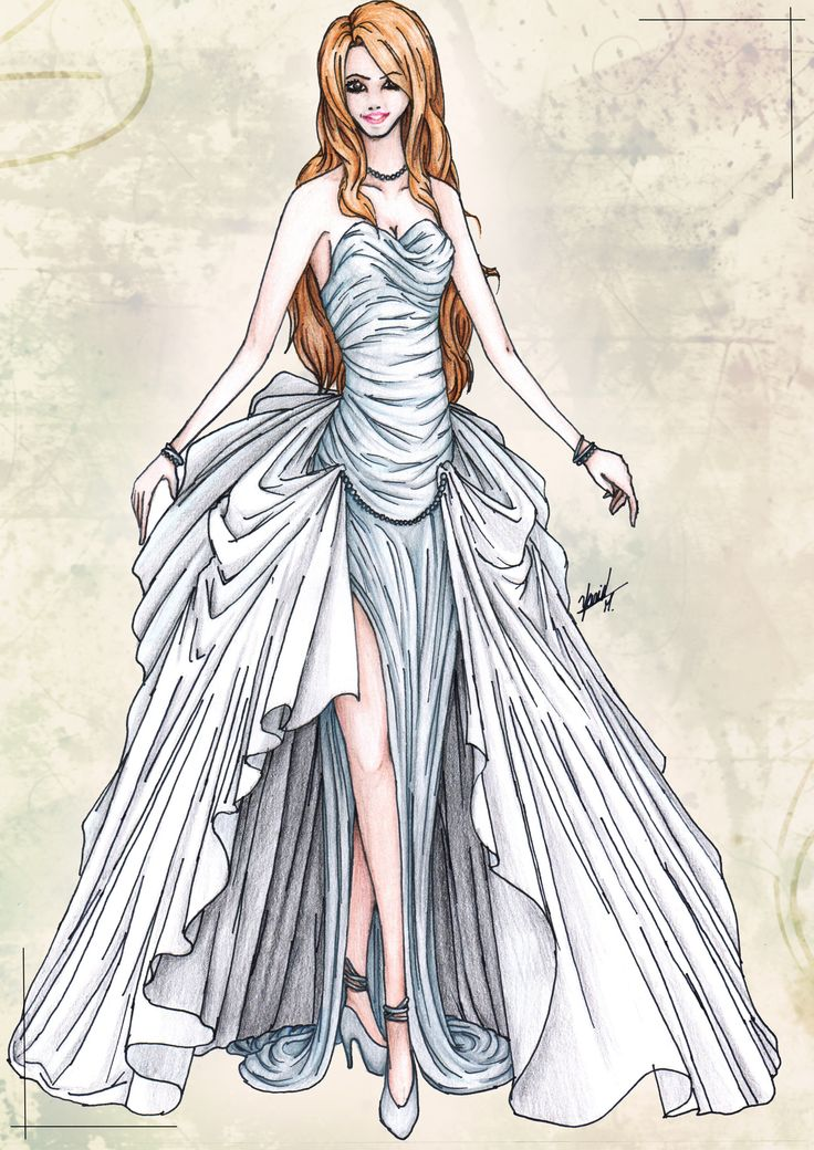 Drawn wedding dress dress style Bridal to Fashion there Draw