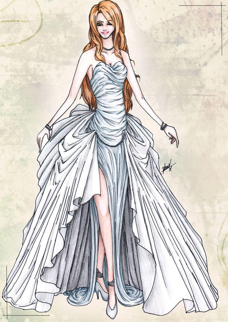 Drawn wedding dress dress style #10