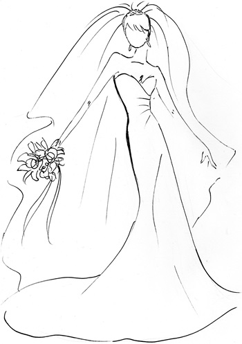 Drawn wedding dress easy This Image Results on dancing
