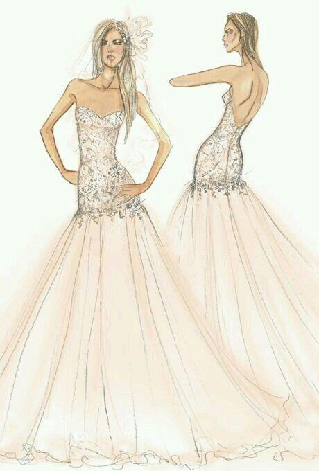 Drawn wedding dress fancy dress Dress best on Wedding ·