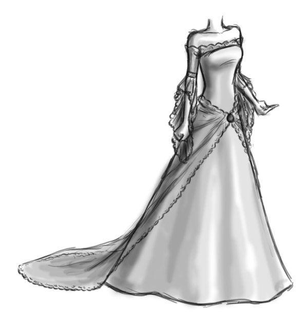 Drawn wedding dress fancy dress The on images Catz87 Dress
