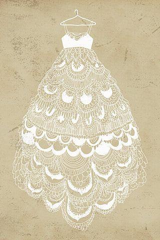 Drawn wedding dress fancy dress Pinterest white draw stock have