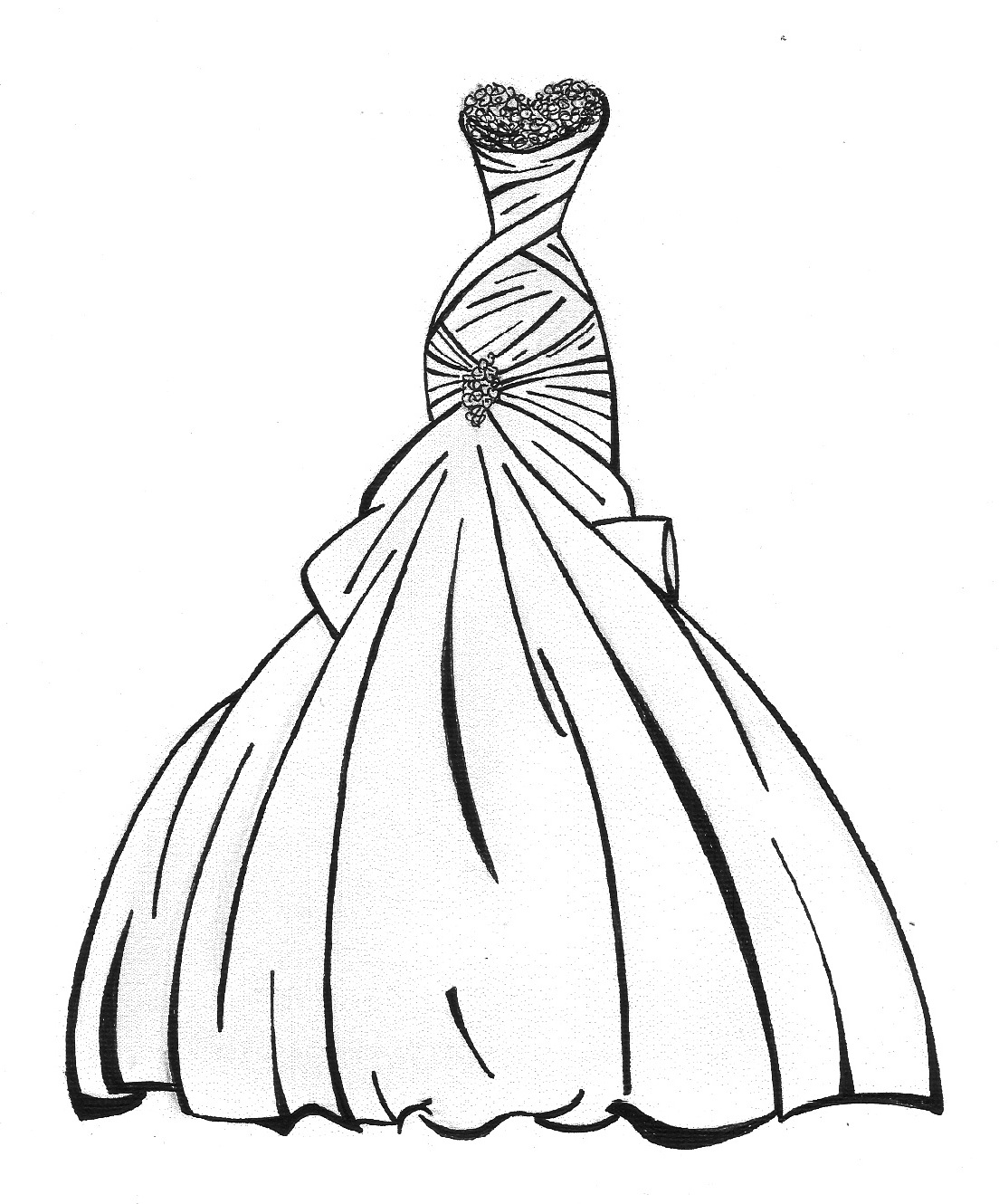 Drawn wedding dress fancy dress Your Free With Picture with