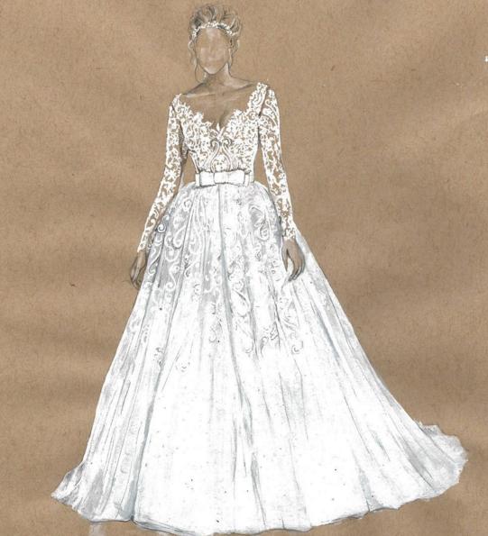 Drawn wedding dress fancy dress Dress Designer Wedding by Dubai