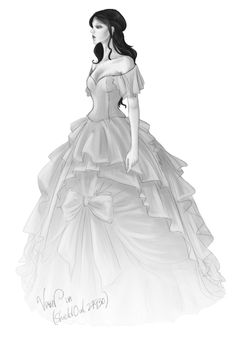 Drawn wedding dress ghostly #13