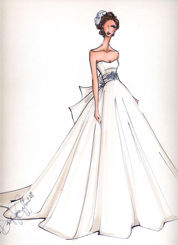 Drawn wedding dress giant #4