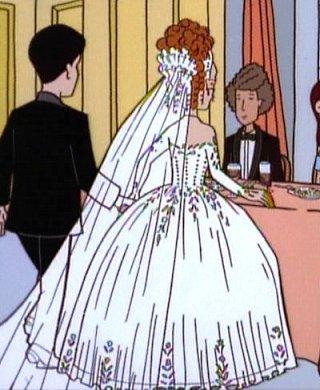 Drawn wedding dress giant #7