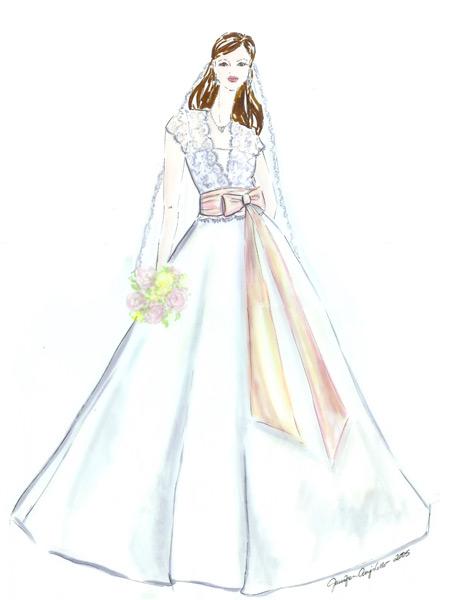 Drawn wedding dress giant #3