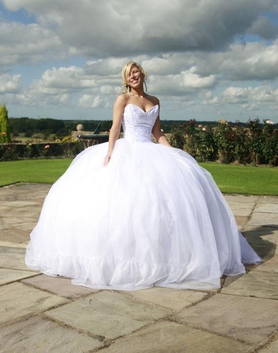 Drawn wedding dress giant #2