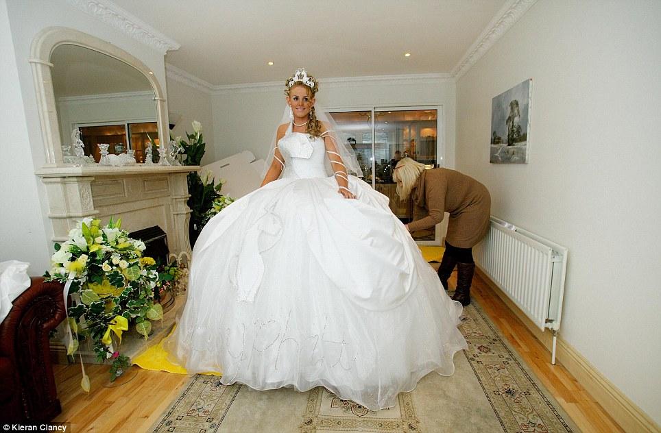 Drawn wedding dress giant #5