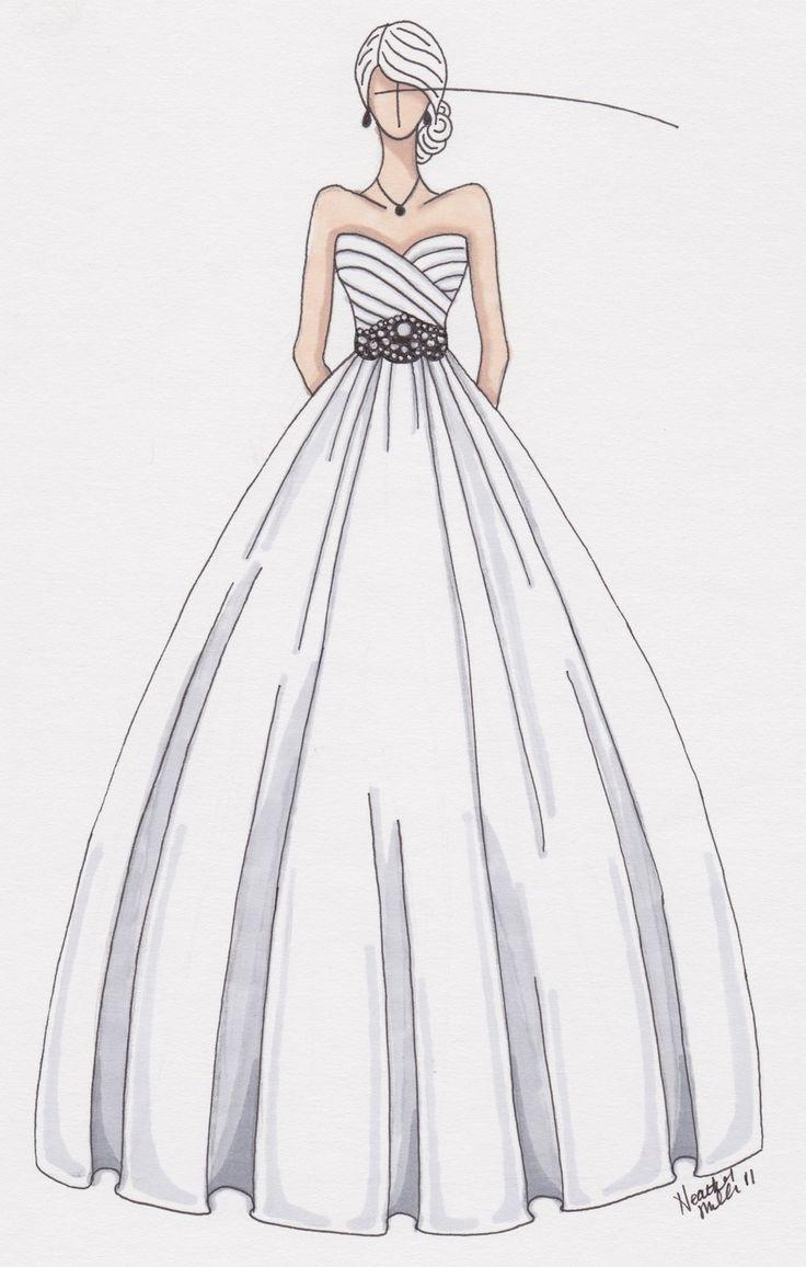 Drawn wedding dress giant #8