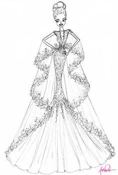 Drawn wedding dress giant #6