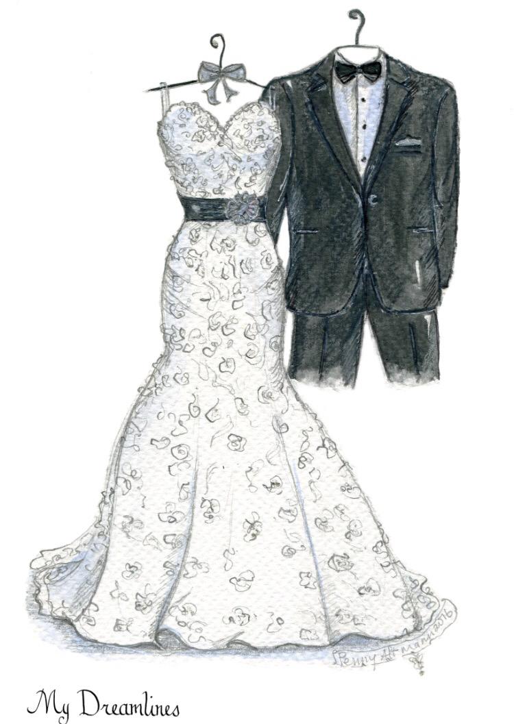 Drawn wedding dress godmother #12