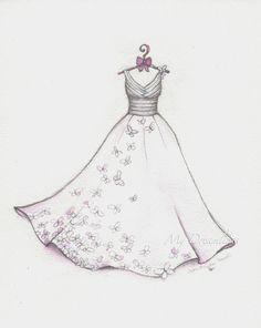 Drawn wedding dress godmother #6