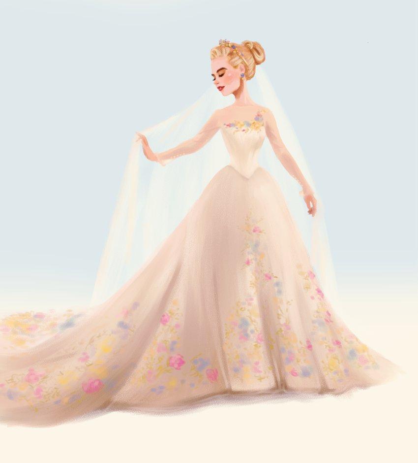 Drawn wedding dress godmother #7