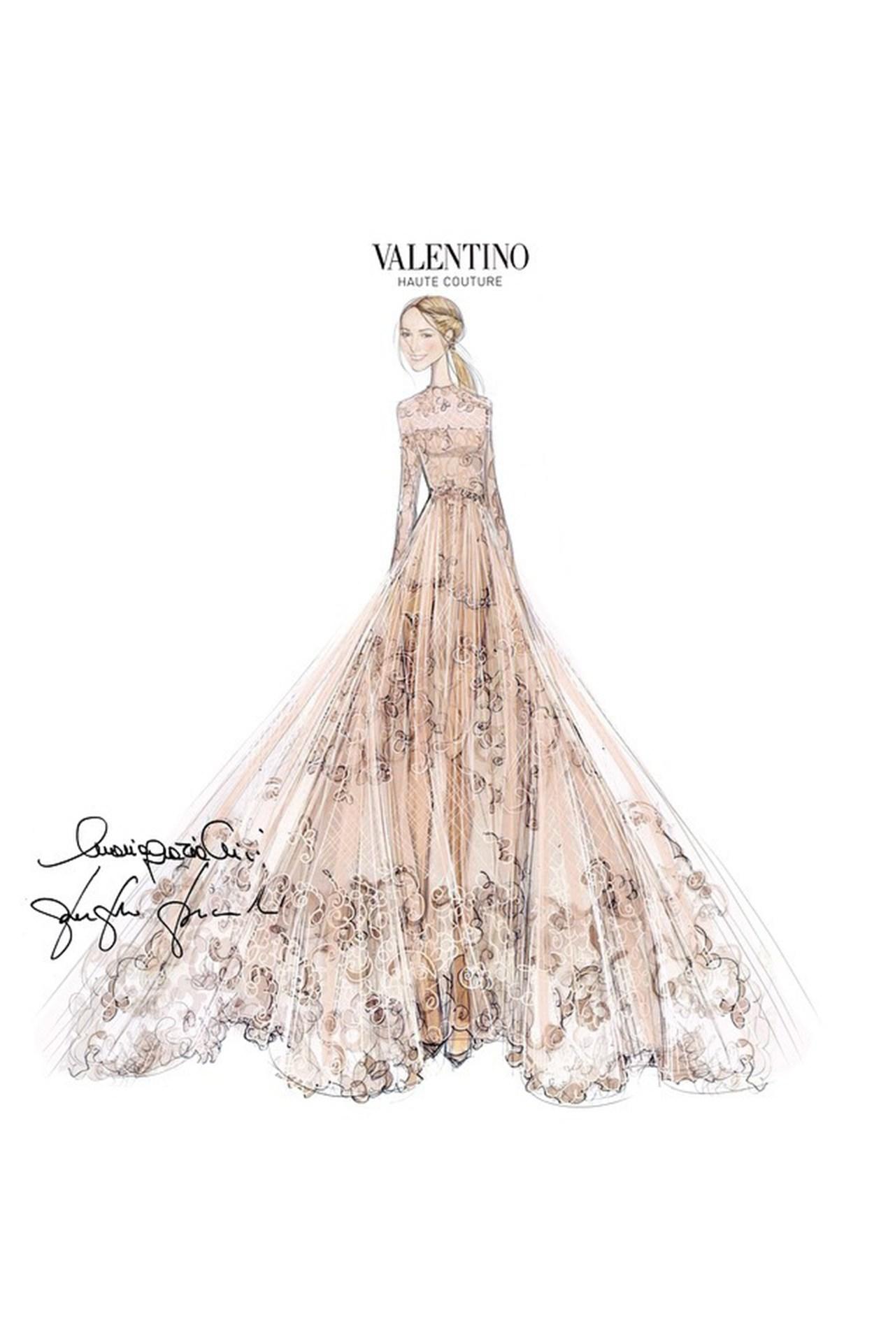 Drawn wedding dress godmother #11