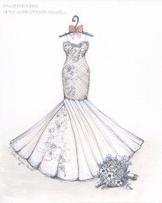 Drawn wedding dress godmother #1