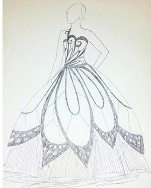 Drawn wedding dress godmother #2