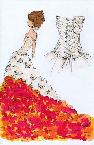 Drawn wedding dress godmother #4