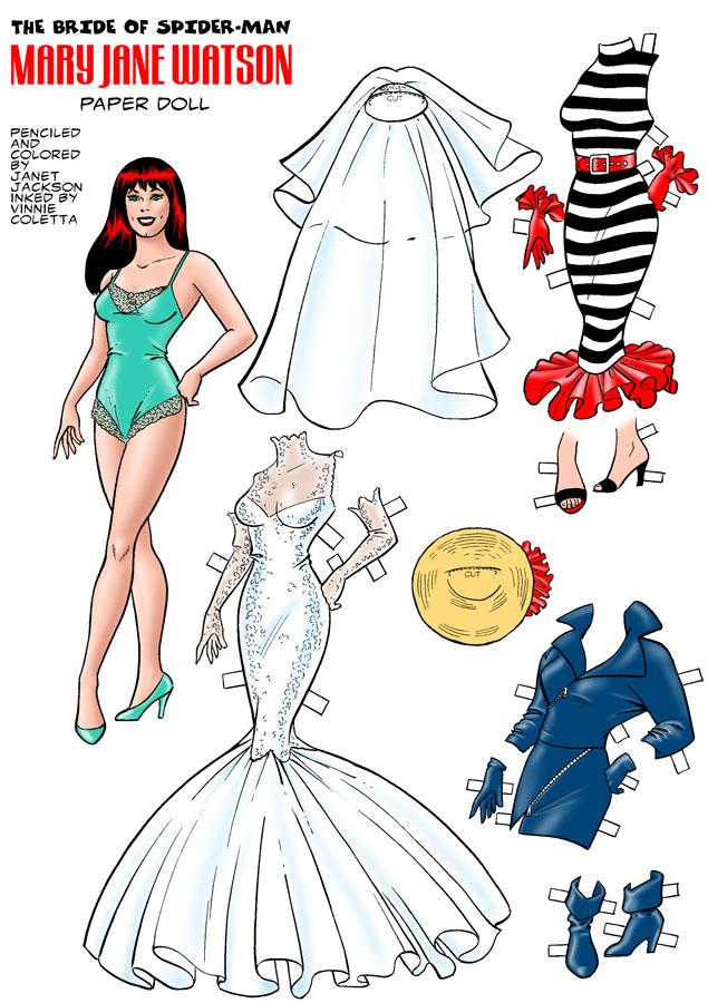 Drawn wedding dress mary jane watson 1 Weddings Part or Weddings