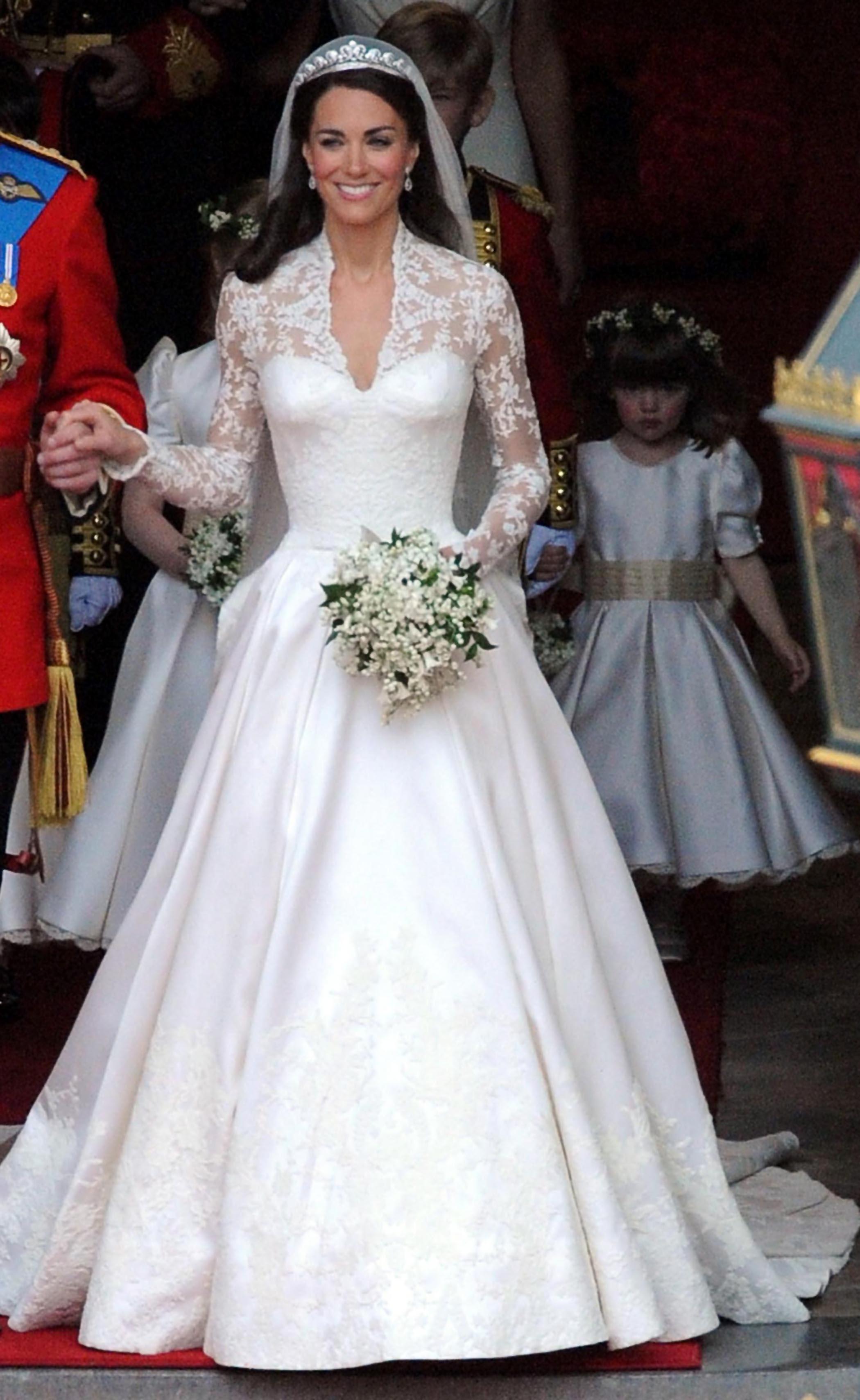 Drawn wedding dress most expensive Middleton & Kate Iconic dress