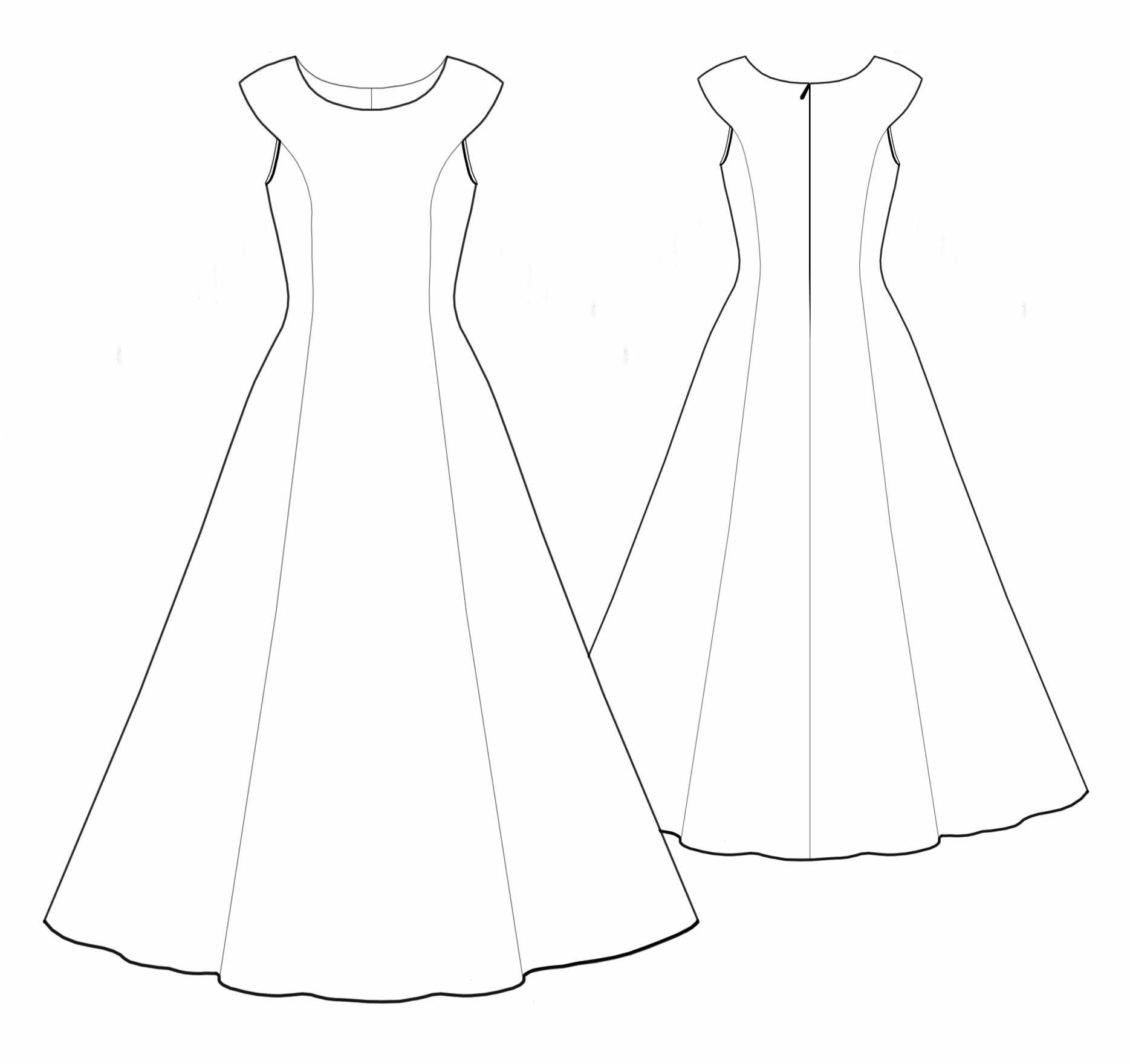Drawn wedding dress party dress #5529 Other suggestions: Dress